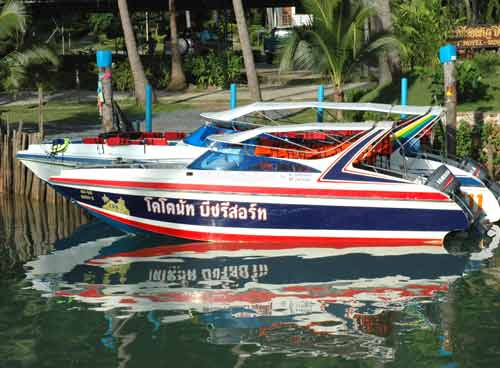 Speedboat to the Koh Rang National Park