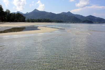 Koh Chang's Klong Prao looking South in August - Yes this is the Monsoon Season