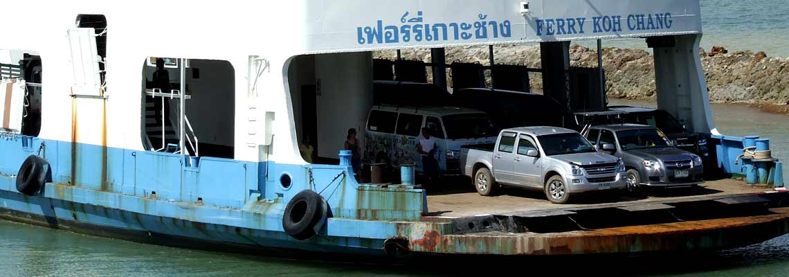 Car Ferry Boat to Koh Chang