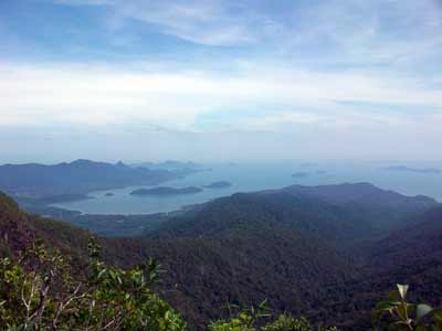 Stunning views from the top of Koh Chang