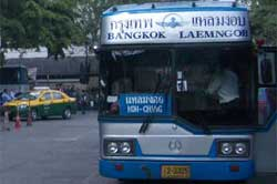 The Government 999 bus goes from Koh Chang to Bangkok Ekamai via Suvarnabhumi Airport 2 or 3 times a day