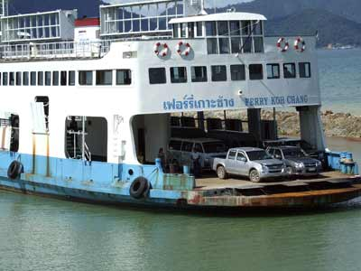 The Koh Chang Car Ferry arriving at Ao Thamachat on the mainland